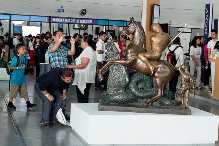 Esculturas de Salvador Dalí visitan Aldea Digital