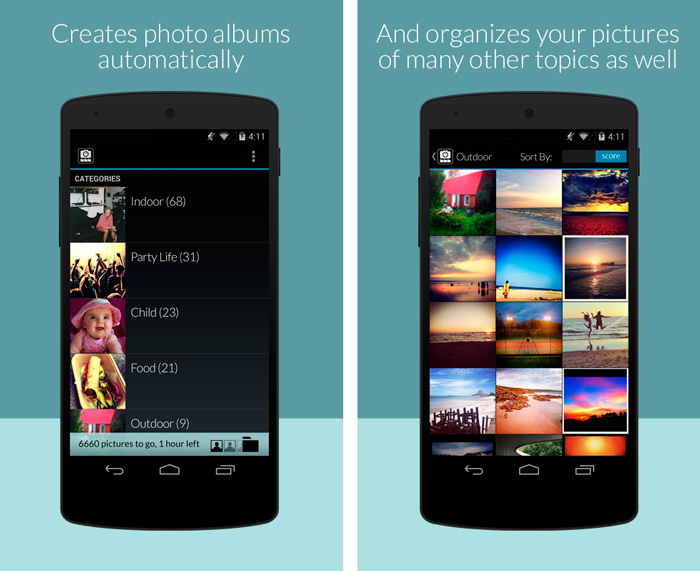 Impala organizador de fotos para smartphones