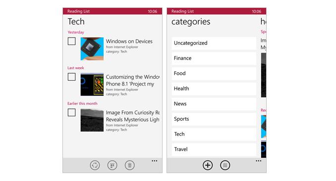 Lista de lectura para Windows Phone 8.1