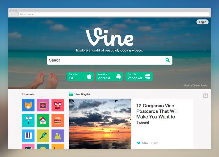 Vine y su nuevo sitio web