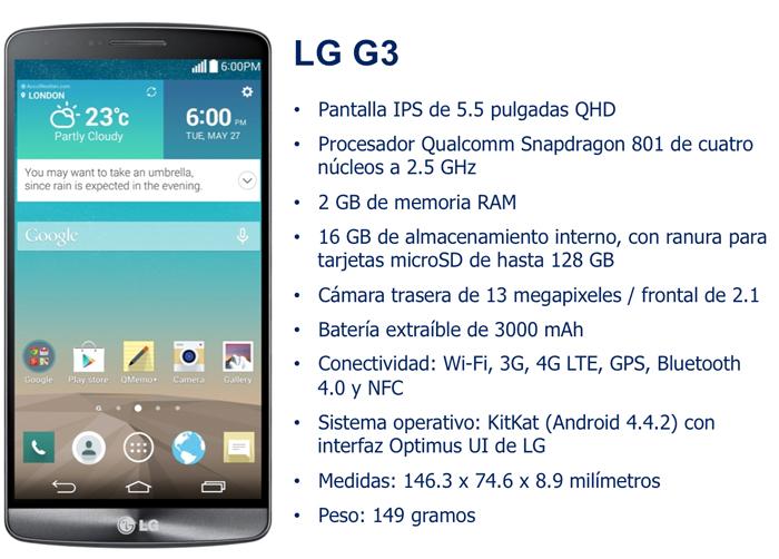 Características del LG G3
