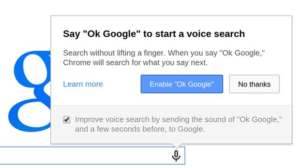 OK Google en Chrome