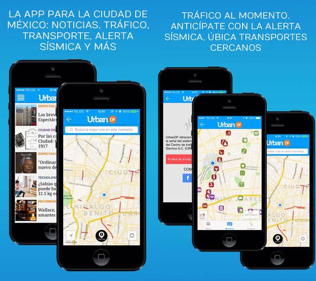 Apps de alerta sísmica - Urban DF
