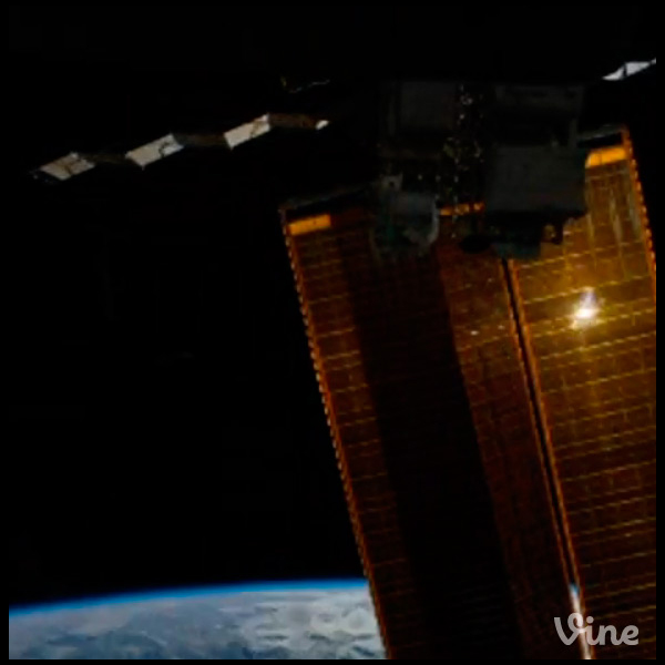 El primer Vine publicado desde el espacio