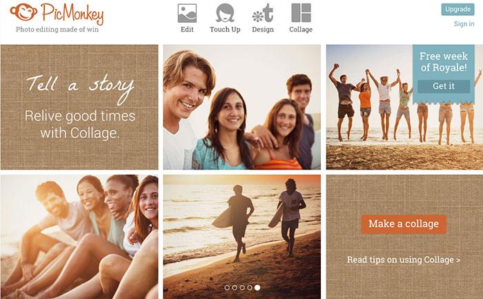 PicMonkey editor de fotos online