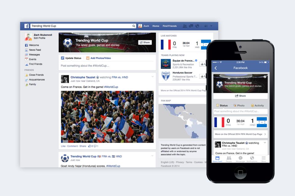 Facebook Trending Worldcup