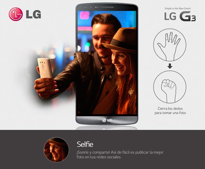 LG G3 modo selfie