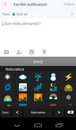 Emoticones en Android