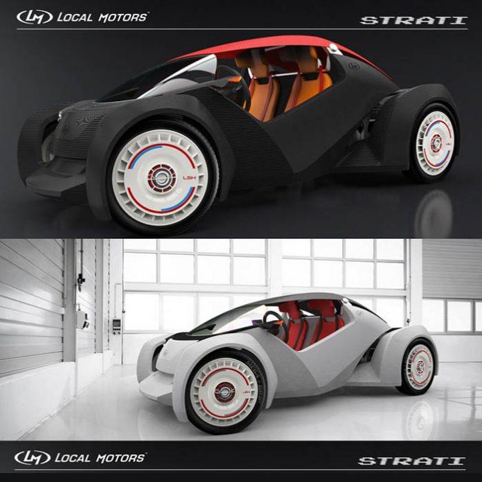 Strati, coche impreso en 3D