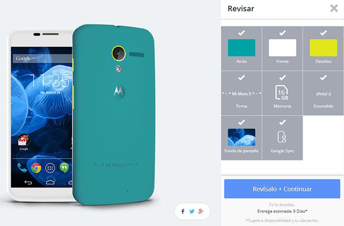 Motorola MotoMaker para Moto X