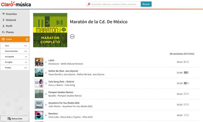 Maratón de la Ciudad de México, Claromúsica
