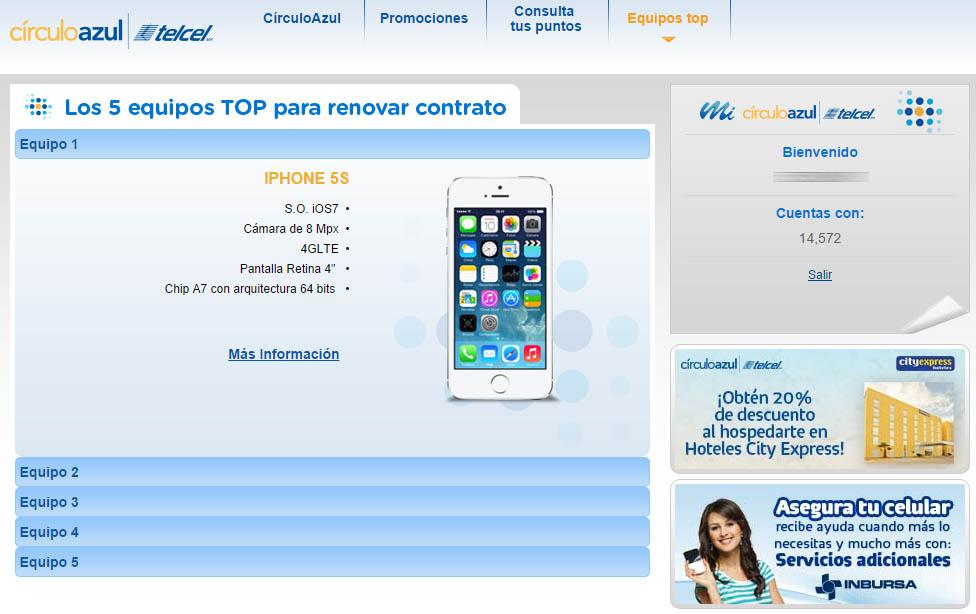 CírculoAzul Telcel - equipos top