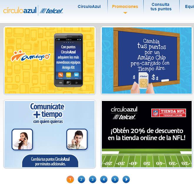 CírculoAzul Telcel - promociones