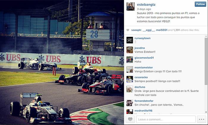 Esteban Gutiérrez Instagram