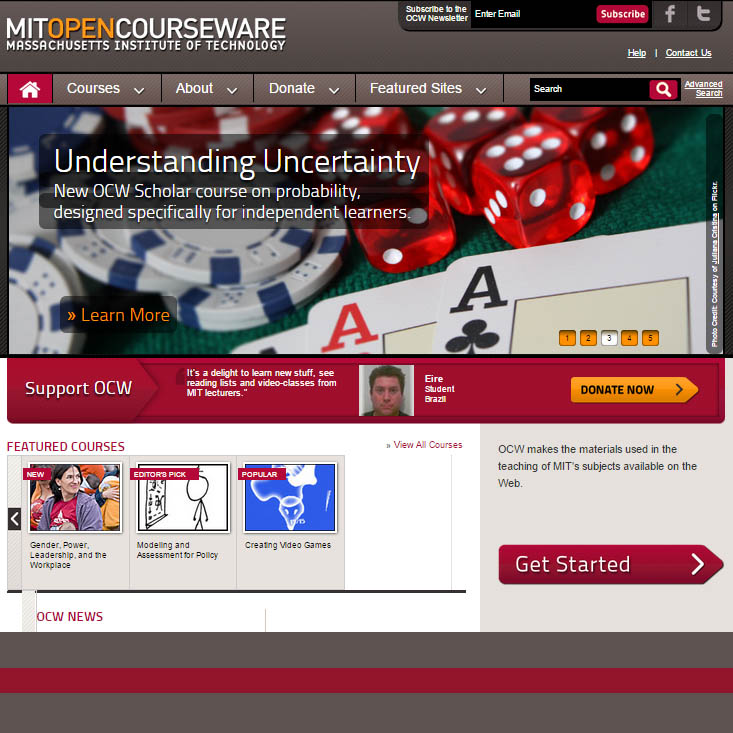 opencourseware Take free harvard online courses through harvard extension school's open learning initiative or edx course videos feature harvard faculty.