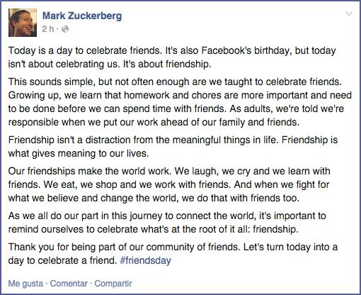 11 años de Facebook