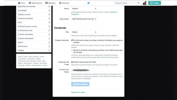 archivo de twiter