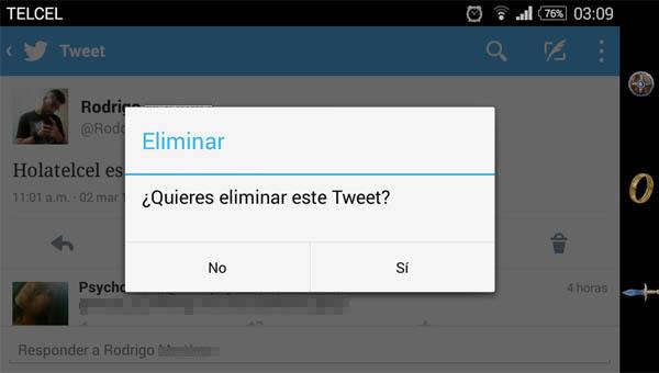eliminar tweet 1