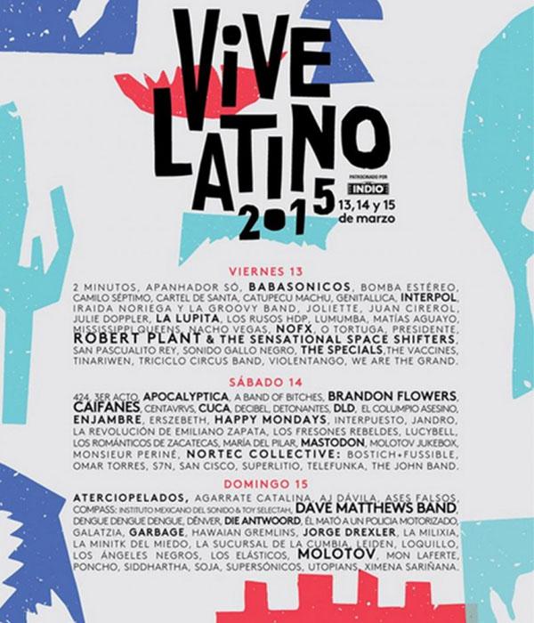 Cartel Horarios Vive Latino Vive Latino 1 Cartel