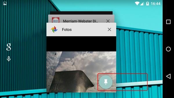 Fija una pantalla en tu Android