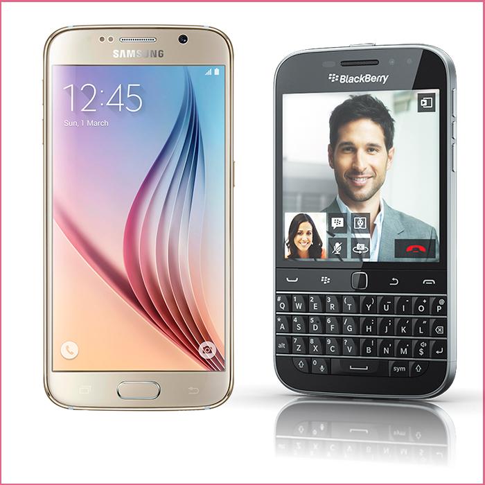 Galaxy S6 frente al BlackBerry Classic