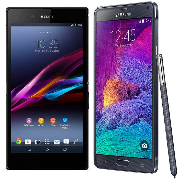 Xperia Z Ultra y Galaxy Note 4