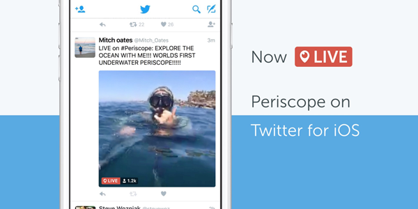 Periscope y Twitter