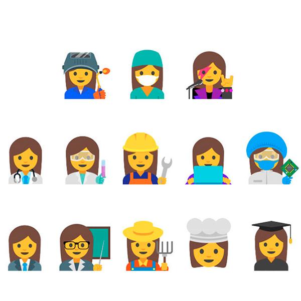 emojis mujer