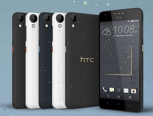 La carcasa de este smartphone está decorada con la técnica micro splash. Imagen: HTC