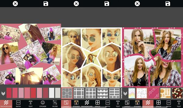 Elige un fondo o un diseño predefinido y crea collages fácilmente. (Foto: Google Play)