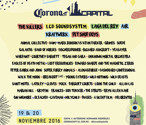 El Corona Capital reúne a más de 50 bandas y artistas con reconocimiento internacional. (Foto: coronacapital.com.mx)