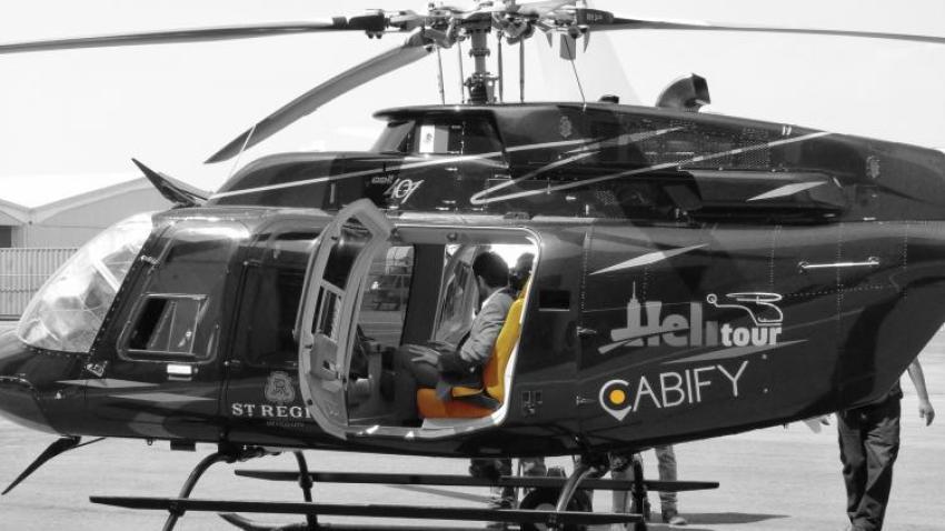 Cabify helicóptero