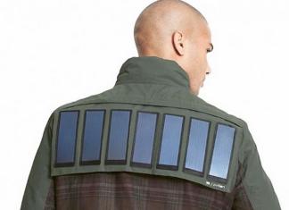 chamarra de paneles solares