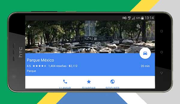 La opción de favoritos está disponible tanto en desktop como en mobile. (Foto: Google Maps)
