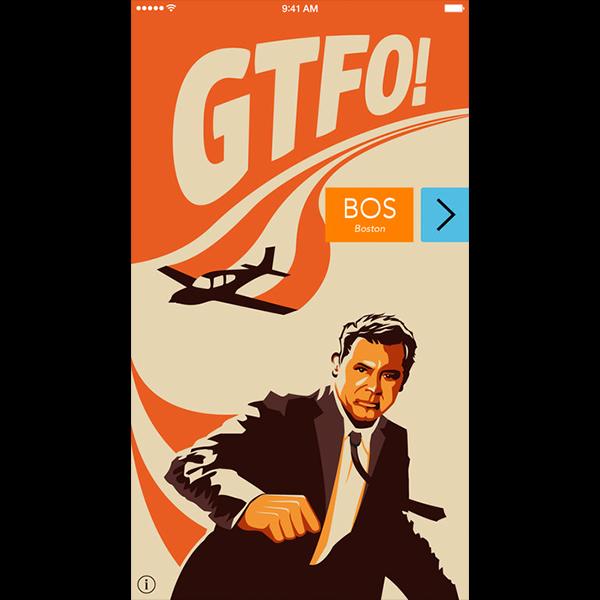 GTFO te encuentra vuelos para ese mismo día o el siguiente. (Foto: iTunes)