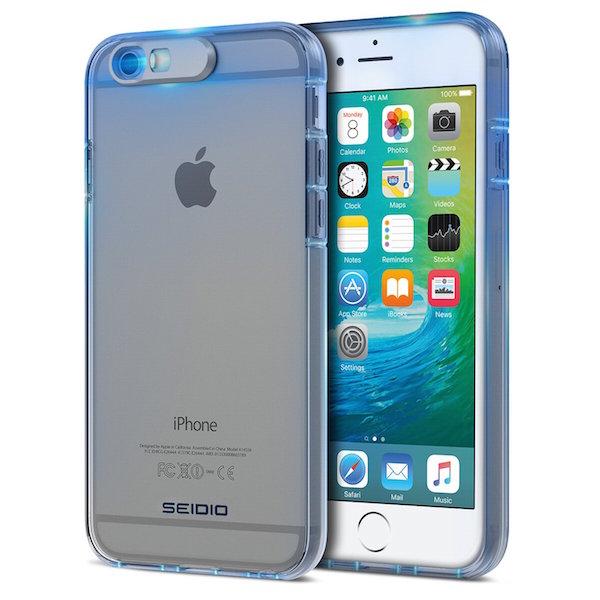 iPhone con una carcasa que prende con ayuda del flash.