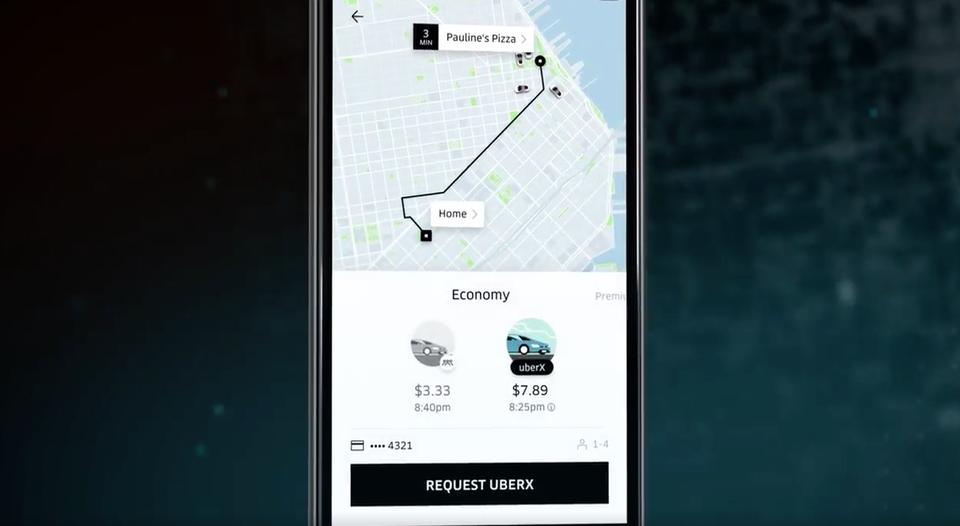 Uber nueva app
