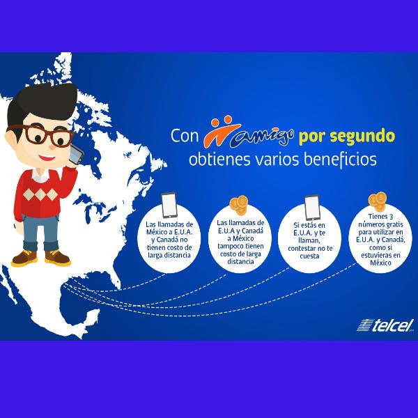 Son cuatro los principales beneficios de Amigo por Segundo. (Foto: Telcel)