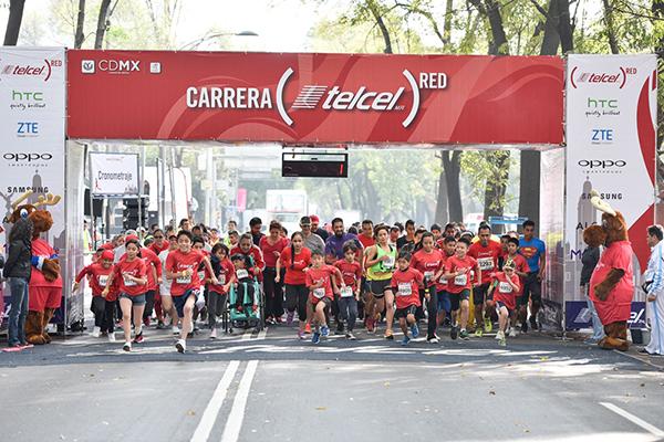 Puedes participar en 5 o 10 kilómetros, y también habrá carreras infantiles. (Foto: Telcel RED)