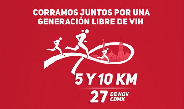 Sé parte de esta carrera con causa para lograr una generación libre de VIH. (Foto: Telcel RED)