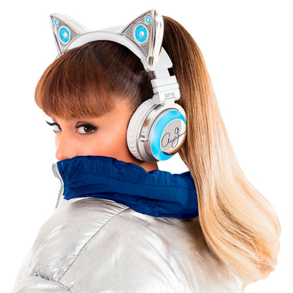 Brookstone Ariana Grande Wireless Cat Ear Headphones