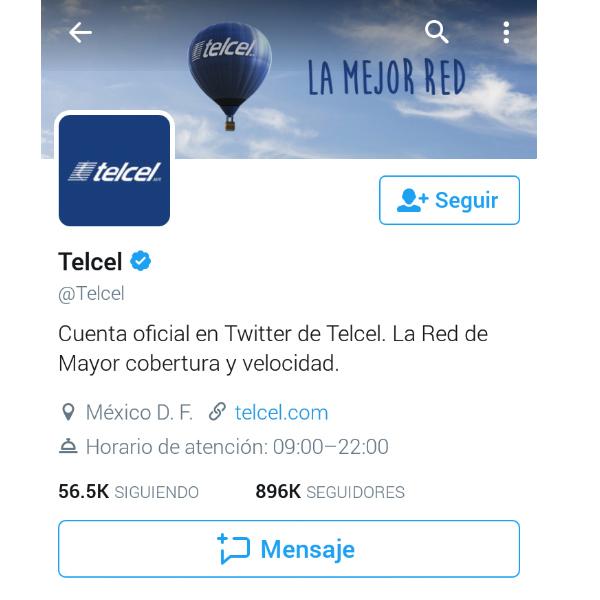 La comunidad de Telcel en redes sociales es robusta y llena de vida. (Foto: Twitter Telcel)