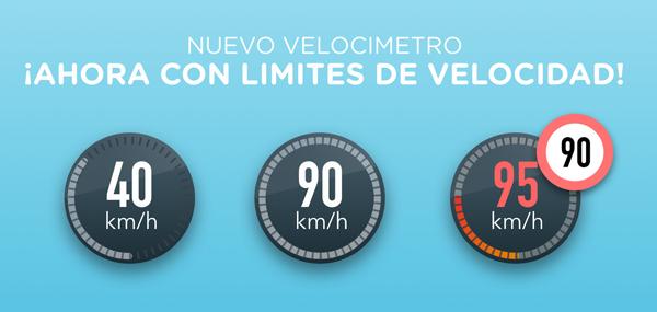 La app te notifica cuando estás por alcanzar o ya has excedido el límite de velocidad. (Foto: Waze)