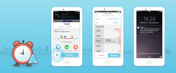 La plataforma te puede avisar cuál es el mejor momento de partir, para llegar a tiempo. (Foto: Waze)