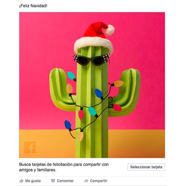 Facebook tarjetas navideñas