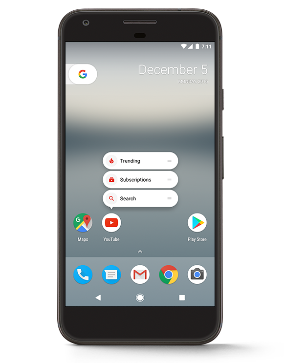 sub-menú Android 7.1.1