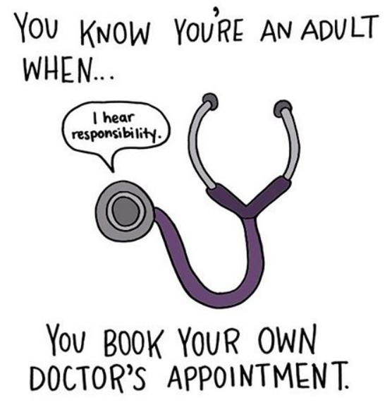 """""""Sabes que eres un adulto cuando agendas tus propias citas médicas"""". (Foto: Instagram)"""