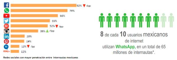 WhatsApp es la segunda aplicación más usada en México. (Foto: Lexia / NetQuest)