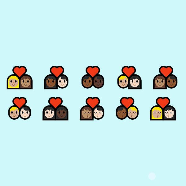 emojis interraciales