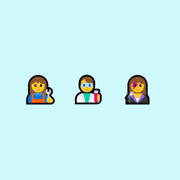 16 nuevas profesiones han sido añadidas en la actualización de WIndows 10. (Foto: Emojipedia)